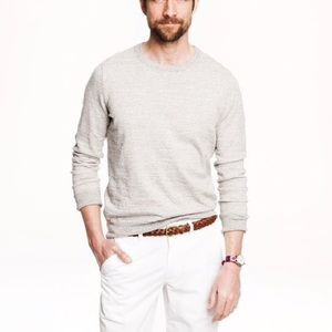 J. Crew Men's Heathered Stripe Cotton Sweater XL